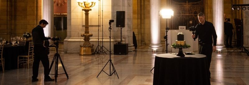Videographers Working In The Old court House In Cleveland, Ohio