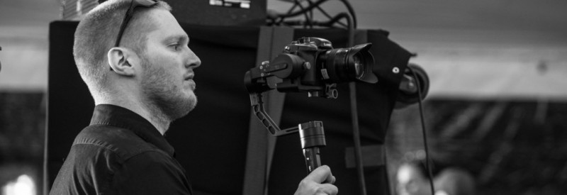 Canton Wedding Videographer Shooting Wedding